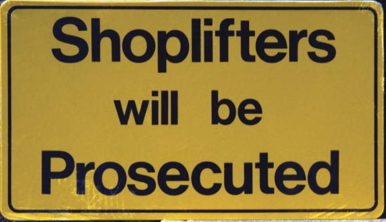 legal implications that accompany the arrest of a shoplifter