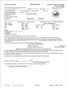 Orange County Arrest Warrant
