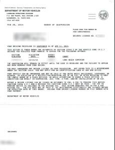 California license suspension - FTA