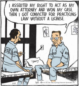 Practicing Law without a license