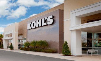 Shows the front of Kohls Store