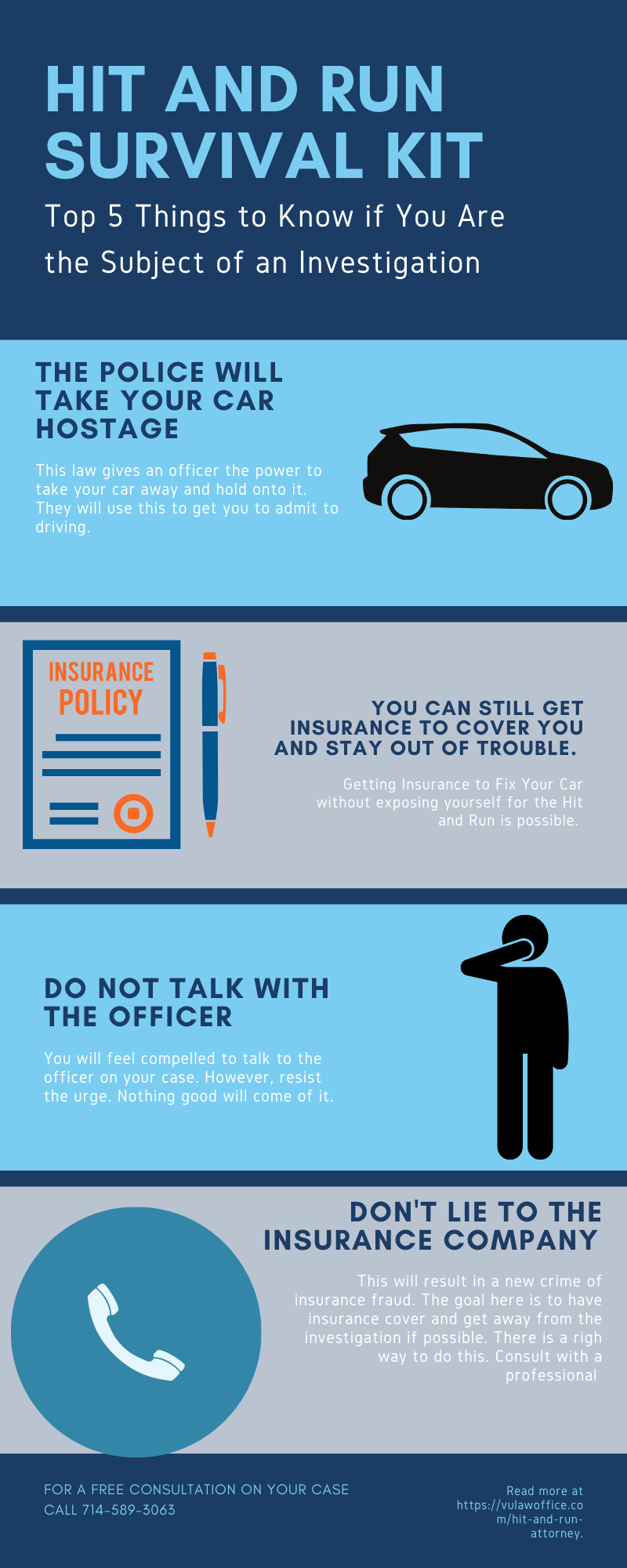 Infographic showing what to do if you are the subject of a hit and run